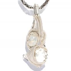 Moonstones in Sterling Silver Pendant